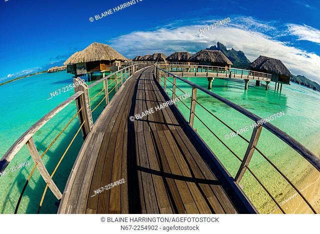 Overwater bungalows, Four Seasons Resort Bora Bora, French Polynesia
