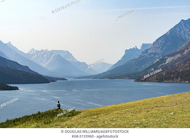 view south in Waterton Lakes National Park, southern Alberta, Canada