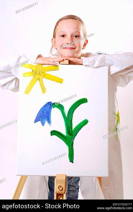 Kleine Künstlerin