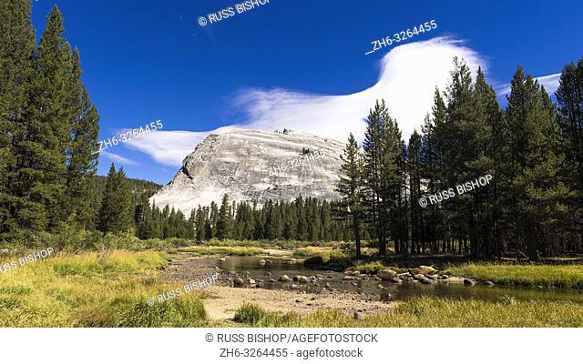 Lenticular cloud over Lembert Dome, Tuolumne Meadows, Yosemite National Park, California USA