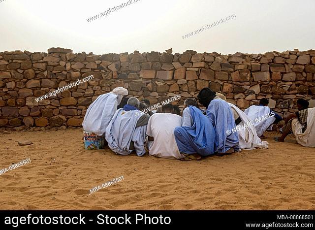 Village life in Ouadane, Mauritania