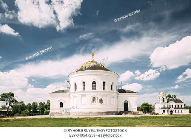 Brest, Belarus. Garrison Cathedral St. Nicholas Church In Memorial Complex Brest Hero Fortress In Sunny Summer Day