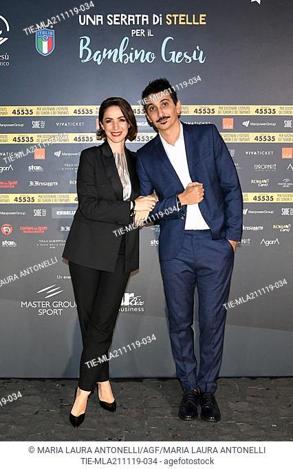 Andrea Delogu, Fabrizio Biggio during the charity show ' Una serata di stelle' for the Hospital Bambino Gesu', Paul VI Hall, Vatican City, ITALY-20-11-2019