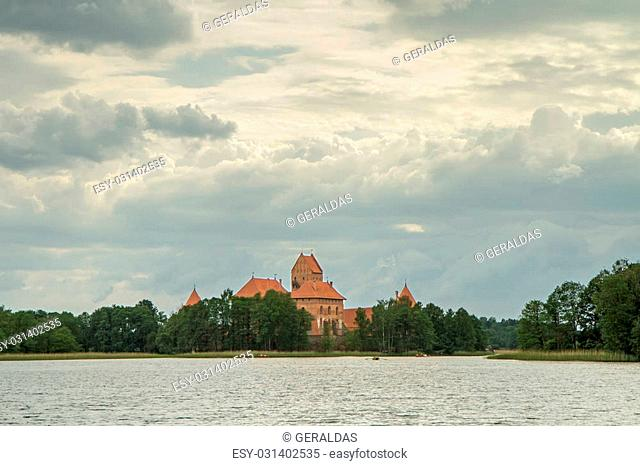 The castle in the former capital of Lithuania, Trakai