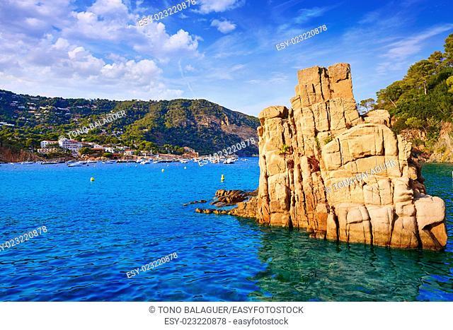 Aigua Blava beach Cala in Begur of Girona at Catalonia Spain
