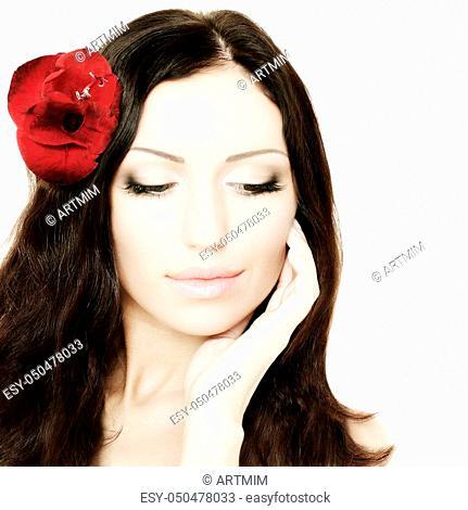 Beautiful woman, portrait