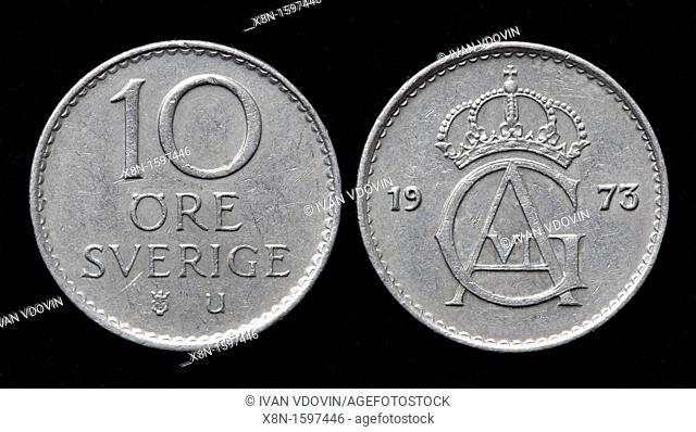 10 Ore coin, Sweden, 1973
