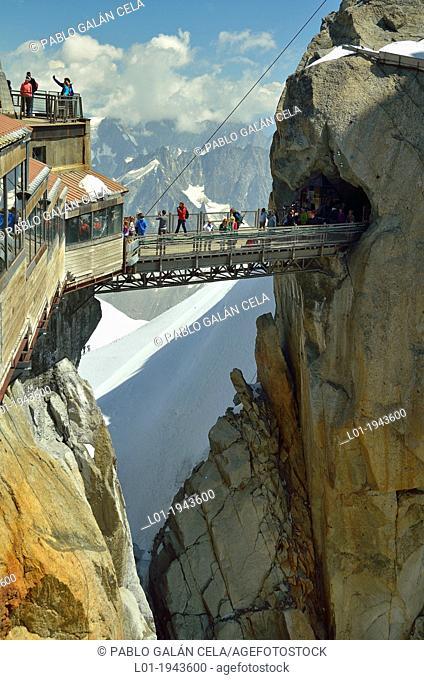Aiguille du Midi, near Mont Blanc, Chamonix, French Alps