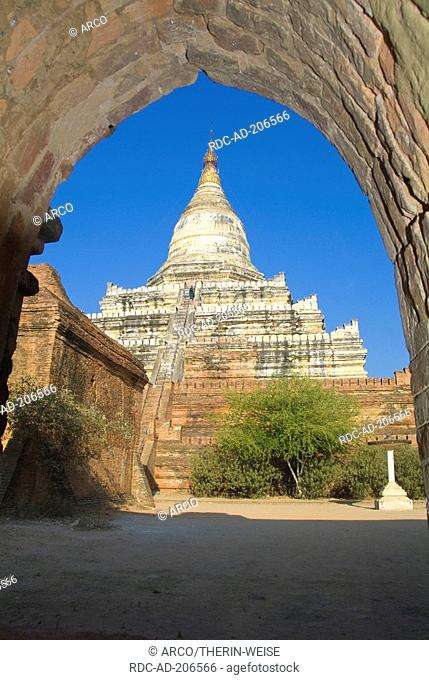 Shwe-hsan-daw temple, Bagan, Burma, Pagan, Myanmar