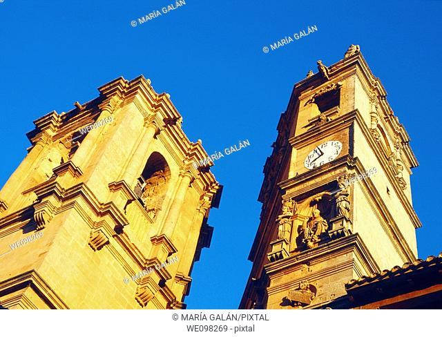 Trinidad and Tardón towers. Alcaraz, Albacete province, Castilla La Mancha, Spain