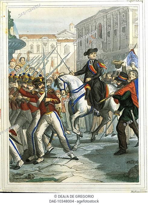 Italy - 19th century - Revolutionary Movement in Naples, July 1820.  Brescia, Museo Civico Del Risorgimento (Historical Museum)