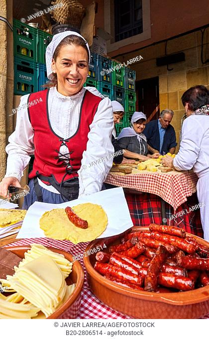 Txistorra, Feria de Santo Tomás, The feast of St. Thomas takes place on December 21. During this day San Sebastián is transformed into a rural market