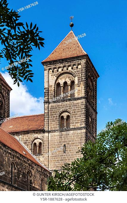 Collegiate Church of St Servatius on the Schlossberg, Quedlinburg, Saxony-Anhalt, Germany, Europe, No Property Release available!
