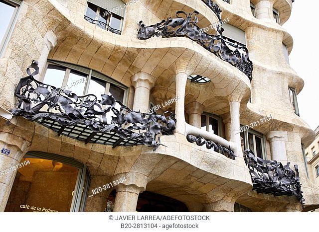 Casa Mila, La Pedrera building, Antoni Gaudi, Barcelona, Catalonia, Spain
