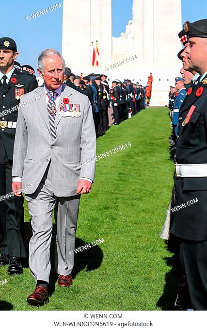 The Prince of Wales, The Duke of Cambridge and Prince Harry attend the Centenary of the Battle of Vimy Ridge Featuring: The Prince of Wales