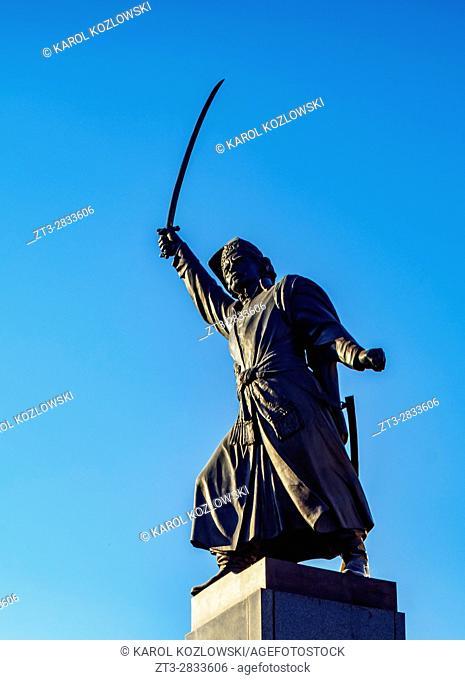 Poland, Masovian Voivodeship, Warsaw, Old Town, Jan Kilinski Statue