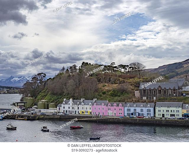 Scotland Isle of Skye Portree Village