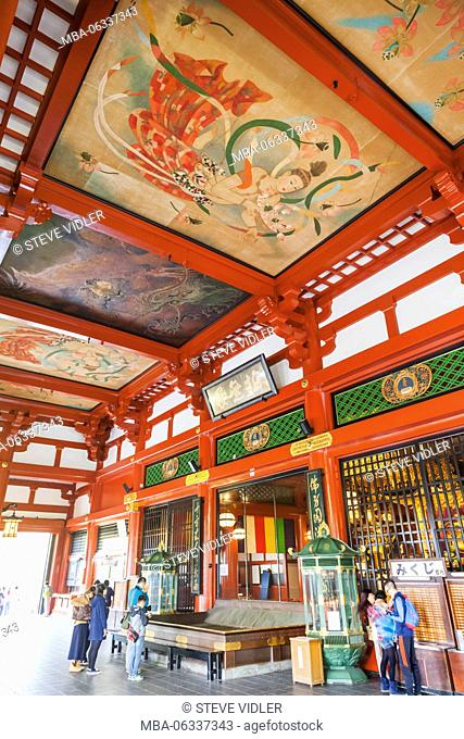Japan, Hoshu, Tokyo, Asakusa, Asakusa Kannon Temple aka Sensoji, The Main Hall