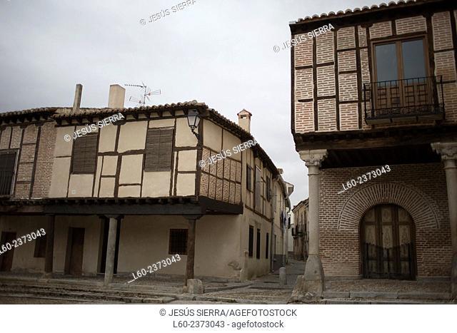 Old houses in Arévalo, Avila province. Spain