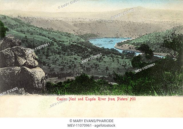 Eagles Nest and Tugela River from Pieters Hill, Colenso, Natal Province, South Africa, location of Pieters Hill Battle, 27 February 1900