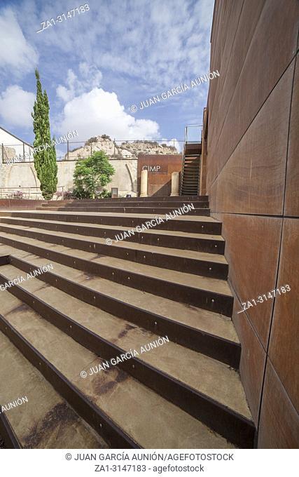 Cartagena, Spain - September 14th, 2018: Punic Wall Interpretation Center Outdoors