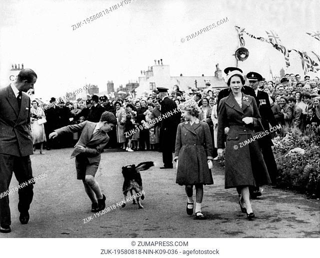 Aug. 18, 1958 - Holyhead, Wales, U.K. - The elder daughter of King George VI and Queen Elizabeth, ELIZABETH WINDSOR (named Elizabeth II) became Queen at the age...