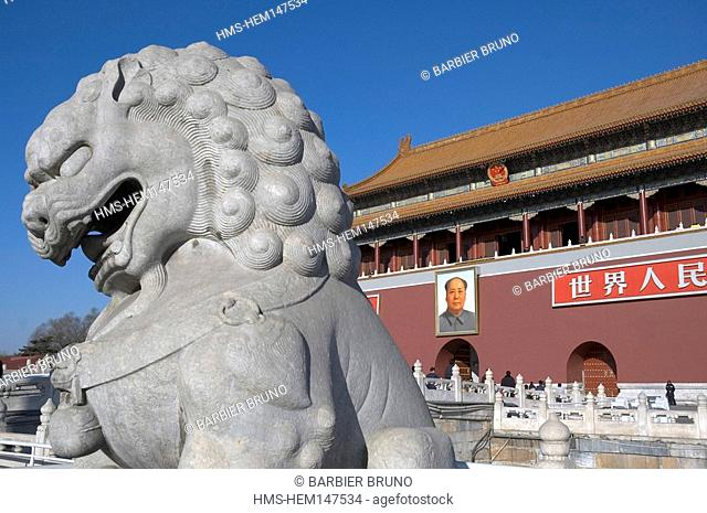 China, Beijing, Forbidden City, listed as World Heritage by UNESCO, Imperial Palace, Tian An Men gate