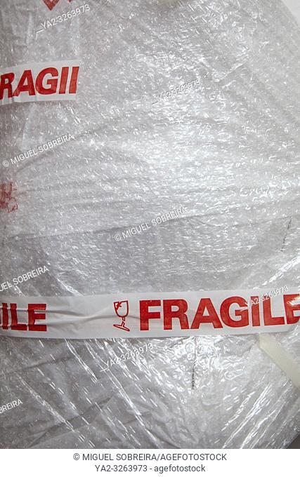 Fragile Package in Bubble Wrap
