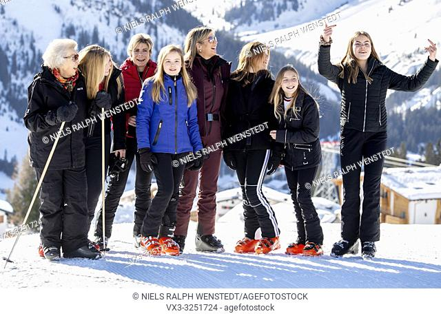 LECH - King Willem-Alexander and Queen Maxima take their daughters to Austria for annual ski holiday