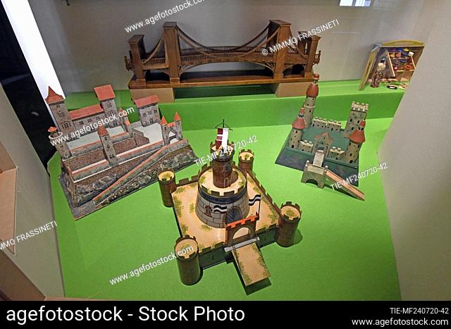 Castles in the exhibition titled ' Per gioco' from the collection of antique toys of the Capitoline Superintendence. It presents over 700 specimens of ancient...