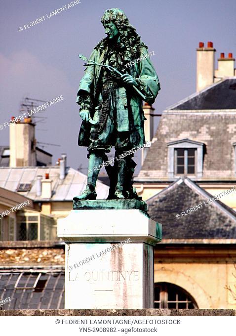 Statue Jean-Baptiste de la Quintinie, Versailles, Yvelines, 78