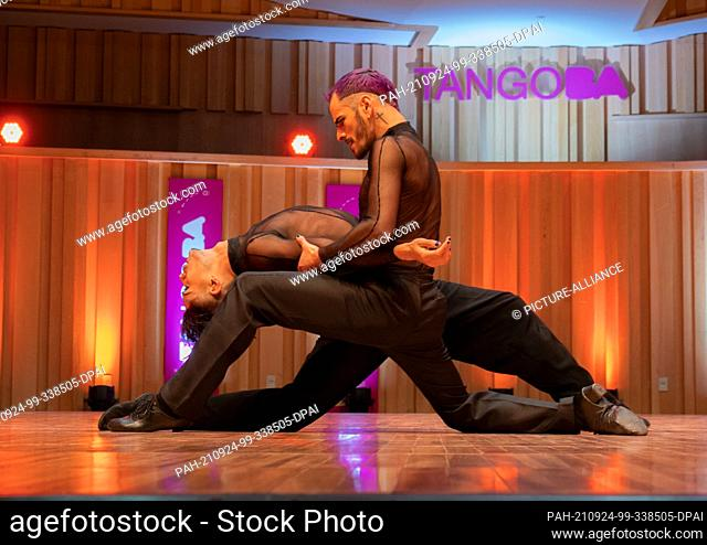 23 September 2021, Argentina, Buenos Aires: Federico Carrizo and Juan Francisco Segui will participate in the semifinals of the 2021 World Tango Championship