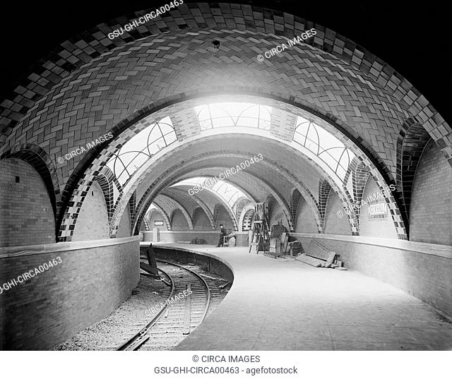 City Hall Subway Station, New York City, USA, circa 1904