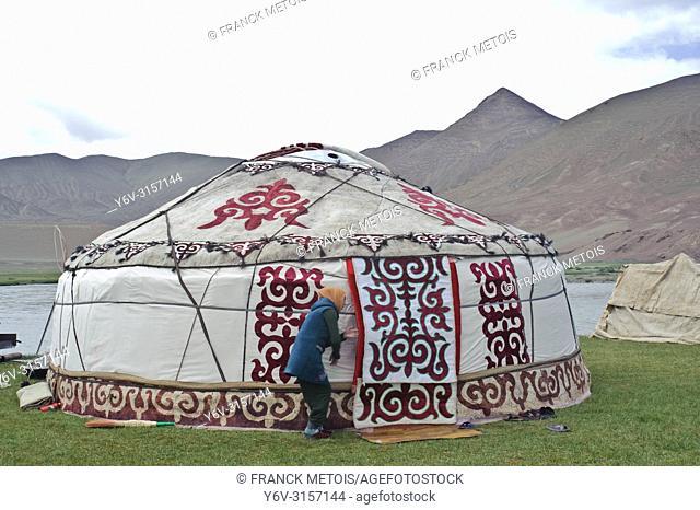 Yurt belonging to a Kyrgyz family ( Pamir region, Tajikistan)