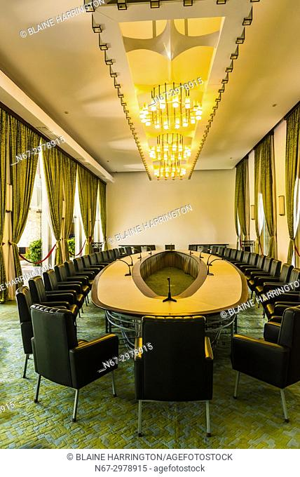 Cabinet room of the fomer South Vietnamese government, Reunification Palace (formerly the Presidential Palace), Ho Chi Minh City (Saigon), Vietnam