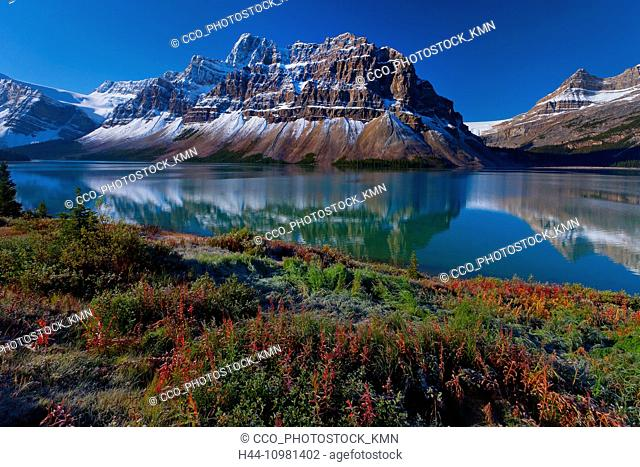 Canadian Rockies and lake in Alberta