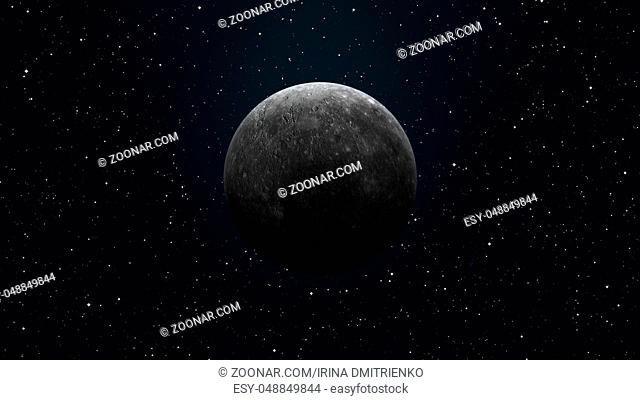 Solar System - Mercury. It is the smallest and closest to the Sun of the eight planets in the Solar System, with an orbital period of about 88 Earth days
