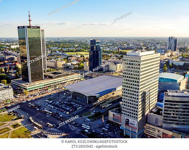 Poland, Masovian Voivodeship, Warsaw City Center Skyscrapers