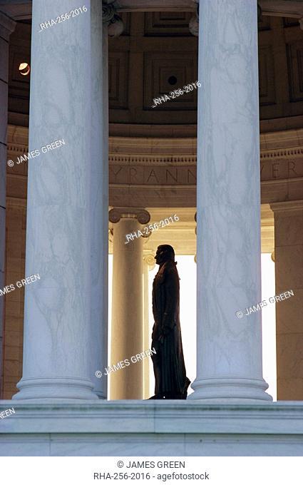 Interior, Jefferson Memorial, Washington D.C., United Staes of America U.S.A., North America