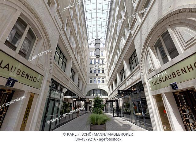 Tuchlaubenhof, shopping mall, office building from 1912, Vienna, Austria