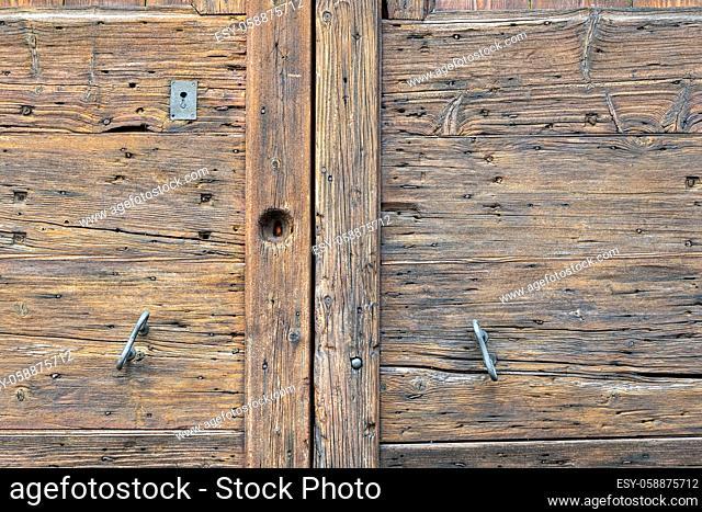 detail an old wooden door