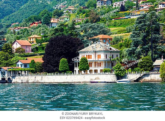 Lake Como (Italy) shore view