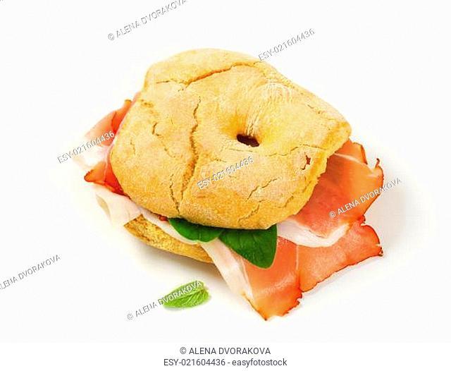 Dry-cured ham sandwich