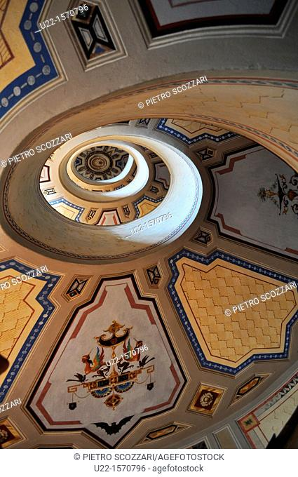 Vignola (Modena, Italy): the winding staircase of Palazzo Barozzi