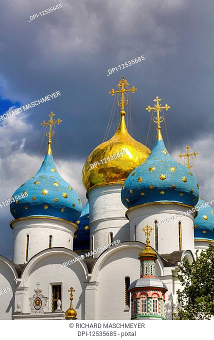 Holy Dormition Cathedral, The Holy Trinity Saint Serguis Lavra; Sergiev Posad, Sergiyevo-Posadsky District, Moscow Oblast, Russia