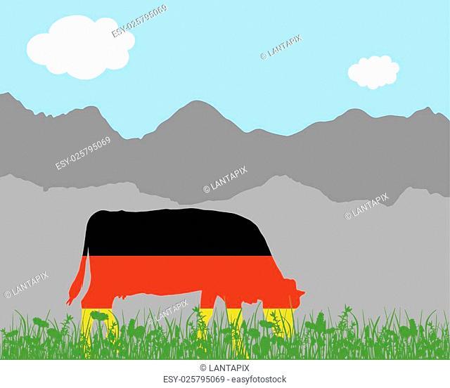 Cow alp and german flag