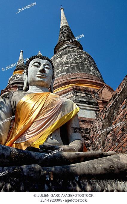 Buddha statue in Wat Yai Chai Mongkol. Thailand, Ayutthaya, Wat Yai Chai Mongkol. (/Julien Garcia)