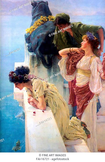 A Coign Of Vantage. Alma-Tadema, Sir Lawrence (1836-1912). Oil on wood. Neoclassicism. 1895. Private Collection. Painting