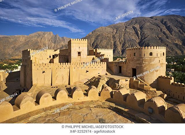 Sultanat d'Oman, gouvernorat de Al-Batina, Nakhal, le fort Husn Al Heem / Sultanat of Oman, governorate of Al-Batina, Nakhl, Nakhl Fort or Husn Al Heem