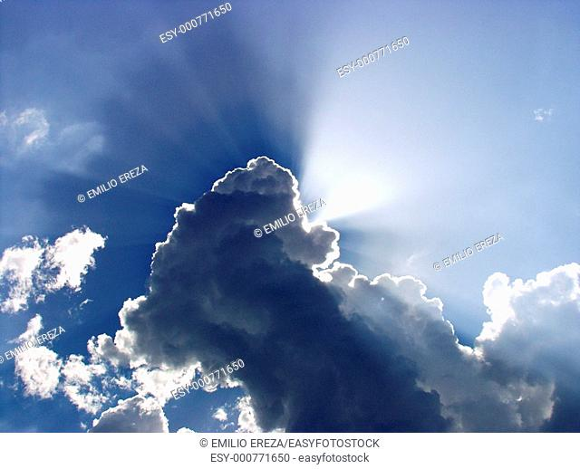 Rays in clouds